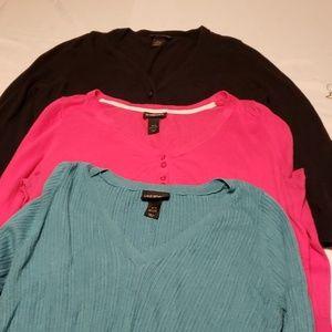 3 lane Bryant sweater lot, 18/20 size